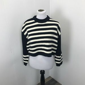 TopShop Striped Cropped Sweater